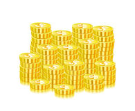 Huge Heap Of Gold Coins Stock Photos