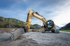 Huge heavy shovel excavator digger Royalty Free Stock Image