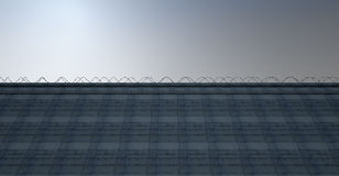 Huge High Security Wall Royalty Free Stock Images