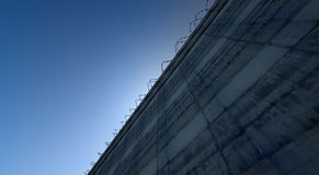 Huge High Security Wall Stock Photography