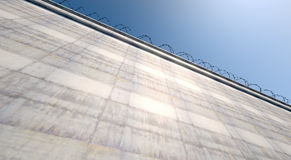 Huge High Security Wall Royalty Free Stock Photo