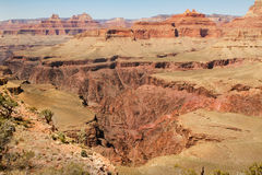 Huge Hole in the ground, Inner Grand Canyon Royalty Free Stock Photos