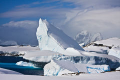 Huge iceberg in Antarctica stock photography