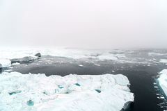 Huge icebergs on arctic ocean in Greenland Stock Image