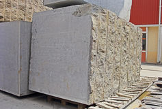 Huge Indian Granite Blocks for Making Flooring Slabs Royalty Free Stock Image