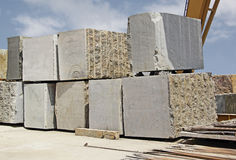 Huge Indian Granite Blocks Royalty Free Stock Image