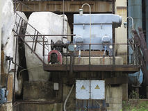 Huge industrial air compressor at old power plant Stock Images