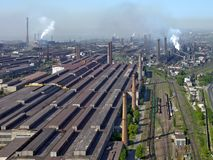 Huge industrial factory  Stock Image