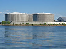 Huge industrial tanks Stock Images