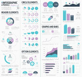 Huge infographic vector elements designers set. Eps10 Stock Photos