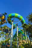 Huge Jungle Water Tube Slide Stock Photo
