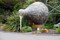 Kiwi sculpture promoting new zealand toursim. Huge Kiwi figurine on new zealand south island royalty free stock photography