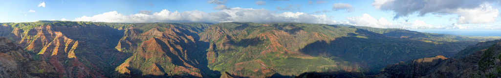 Huge landscape of Waimea Canyon in Hawaii royalty free stock photo