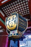 Huge lantern at Kaminarimon Temple stock image