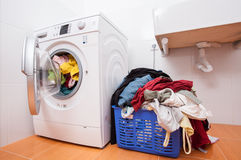 Huge laundry Stock Images