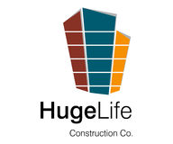 Huge Life Logo. Logo Design for Construction Company Stock Image