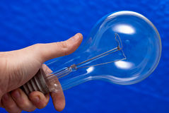 Huge light bulb Royalty Free Stock Images