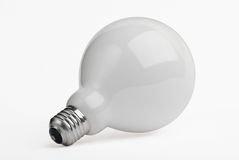 Huge light bulb isolated on white Royalty Free Stock Image