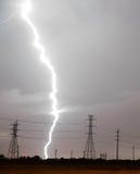 Huge Lightning Bolt Strike Storm Chaser Gulf of Mexico Stock Image