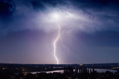 Huge lightning Stock Image