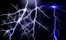 Huge lightnings Royalty Free Stock Photos