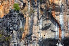 Huge limestone cliffs Stock Image