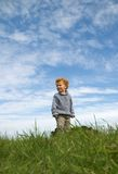 Huge Little Boy. Toddler boy (3) from low point of view Royalty Free Stock Images