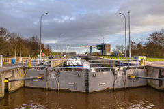 Huge Lock Chamber in the Netherlands Royalty Free Stock Images