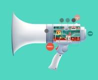 Huge loudspeaker Royalty Free Stock Photo