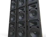 Huge loudspeakers Royalty Free Stock Photo