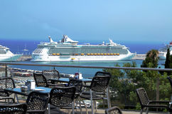 Huge luxury cruise ship Royalty Free Stock Photo