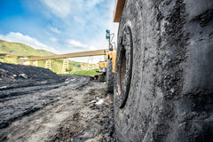 Huge machines used to coal excavation Royalty Free Stock Photography