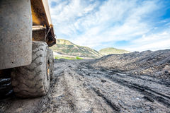 Huge machines used to coal excavation Royalty Free Stock Photo