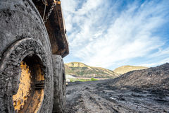 Huge machines used to coal excavation Stock Image
