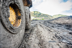 Huge machines used to coal excavation Stock Images