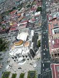 Huge markets in Mexico City including Bellas Artes. Theater in the center of the city Stock Photos