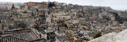 Huge matera urbanscape background. Huge image of matera ancient town in italy background Royalty Free Stock Image