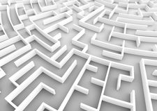 Huge maze. Business strategy concepts, challenge, problem solving etc. Royalty Free Stock Images