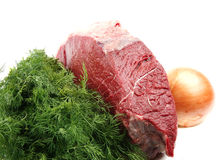 Huge meat chunk Stock Photos