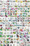 Huge mega collection of abstract geometric paper Royalty Free Stock Photos