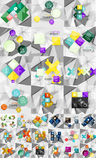 Huge mega collection of abstract geometric paper Royalty Free Stock Photo