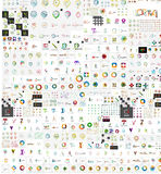 Huge mega collection of company logo icons Stock Image