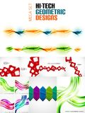 Huge mega collection of geometric shape abstract backgrounds Royalty Free Stock Photo