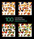 Huge mega collection of triangle backgrounds stock illustration