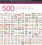 Huge mega set of 500 business paper origami style option infographic banners Royalty Free Stock Photography