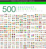 Huge mega set of 500 business paper origami style option infographic banners Stock Photo