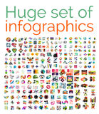 Huge mega set of infographic templates Royalty Free Stock Photos