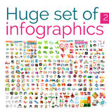 Huge mega set of infographic templates royalty free illustration