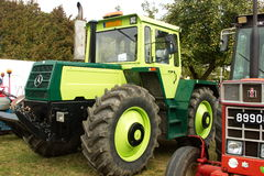 Huge Mercedes green tractor. Displayed at the `Meet the Tractors` even held each beginning of October in the city of Contern , Luxembourg , Europe. In the same Royalty Free Stock Image
