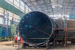 Huge metal tunnel Royalty Free Stock Image